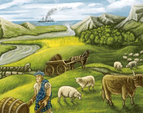 IM2236: Le Brett – Clans of Caledonia, Watson & Holmes, Race to the New Found Land und Kinderspiel des Jahres